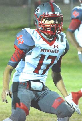 Hermleigh sophomore J.J. Granados recorded 10 tackles in the win