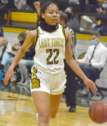 Snyder senior Kamiah Davis scored 11 points in the Lady Tigers' 47-39 road win over Big Spring on Tuesday. Snyder will host Sweetwater at 7:30 p.m. on Friday.
