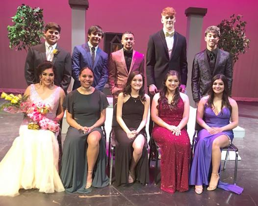 Miss SHS nominees on the front row are (l-r) Kimberly Cortes, Kamiah Davis, Baylee Garcia, Alyssa Hurt and Saraya Velasquez. Mr. SHS nominees on the back row are (l-r) Jaxson Collier, Austin Escobedo, Christian Escobedo, Zach Miller and Aiden Salinas.